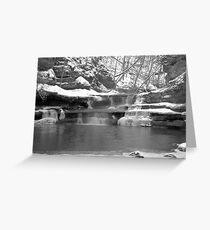 Frozen Nature Series - Bitter Falls Greeting Card