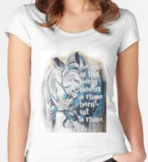 No one in the world needs a rhino horn but a rhino. Women's Fitted Scoop T-Shirt