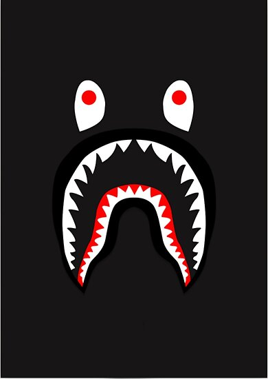 u0026quot bape shark pattern merchandise u0026quot  posters by lisa mcdaniel