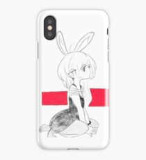 Bunny girl without text iPhone Case/Skin