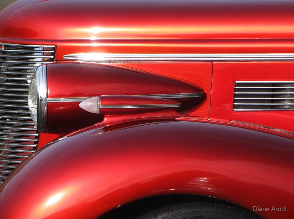 Buick Street Rod Front Profile, Lincoln City Car Show by Diane Arndt