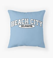 Beach City, Delmarva Throw Pillow