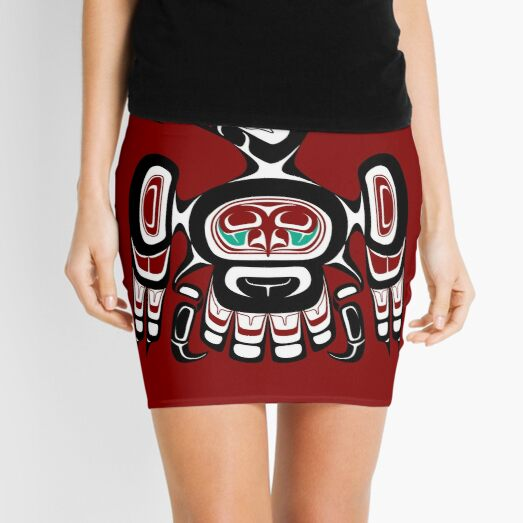 Northwest Pacific coast Kaigani Thunderbird Mini Skirt