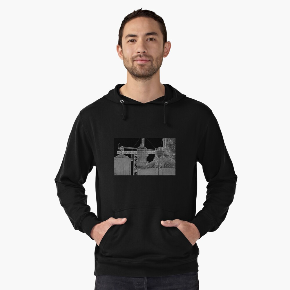 Industrial Shapes Lightweight Hoodie Front