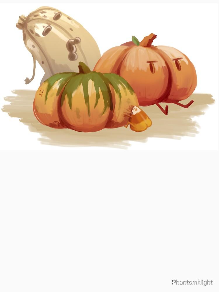 Halloween zombie pumpkin patch - Original art by PhantomNight