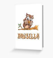 Drusilla Owl Greeting Card