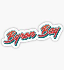 Byron Bay AU Typography Sticker
