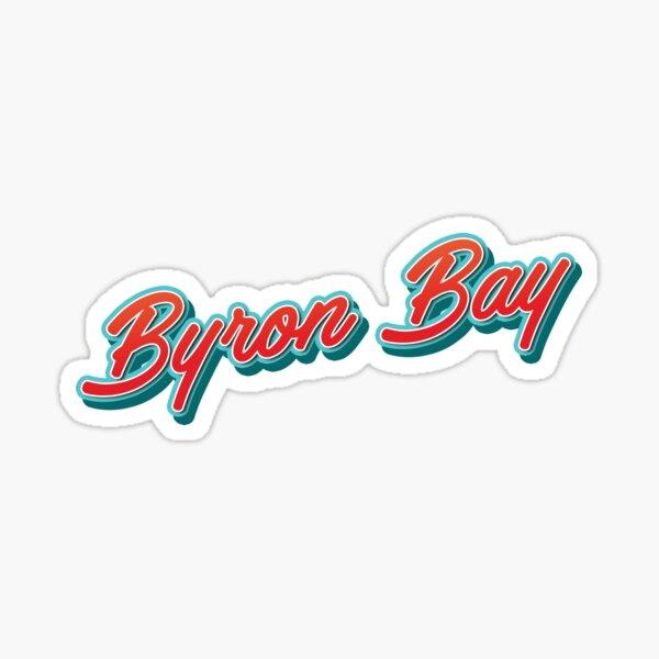 Byron Bay AU Typography Sticker