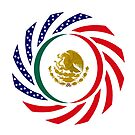 Mexican American Multinational Patriot Flag Series by Carbon-Fibre Media