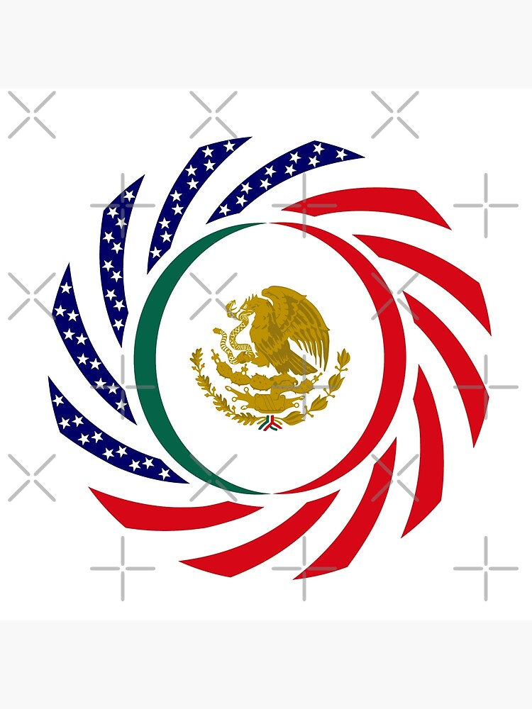 Mexican American Multinational Patriot Flag Series by carbonfibreme