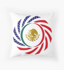 Mexican American Multinational Patriot Flag Series Throw Pillow