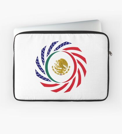 Mexican American Multinational Patriot Flag Series Laptop Sleeve