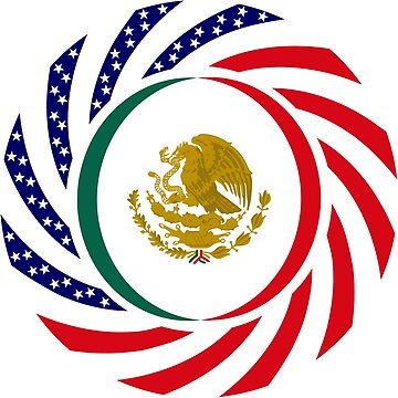 Mexican American Multinational Patriot Flag Series 1.0 by carbonfibreme