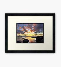 Cape Town Sunset Framed Print