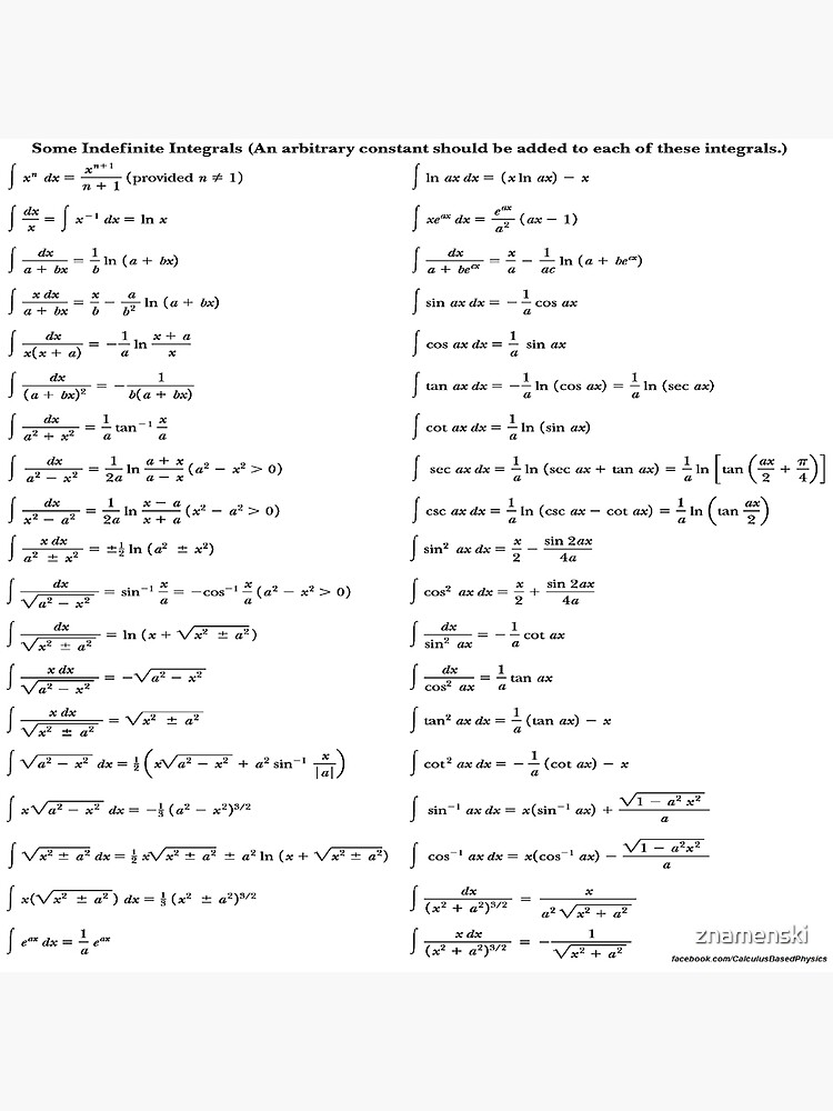 Some #Indefinite #Integrals #IndefiniteIntegral by znamenski