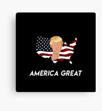 The only thing that beats America - DonaldTrump Canvas Print