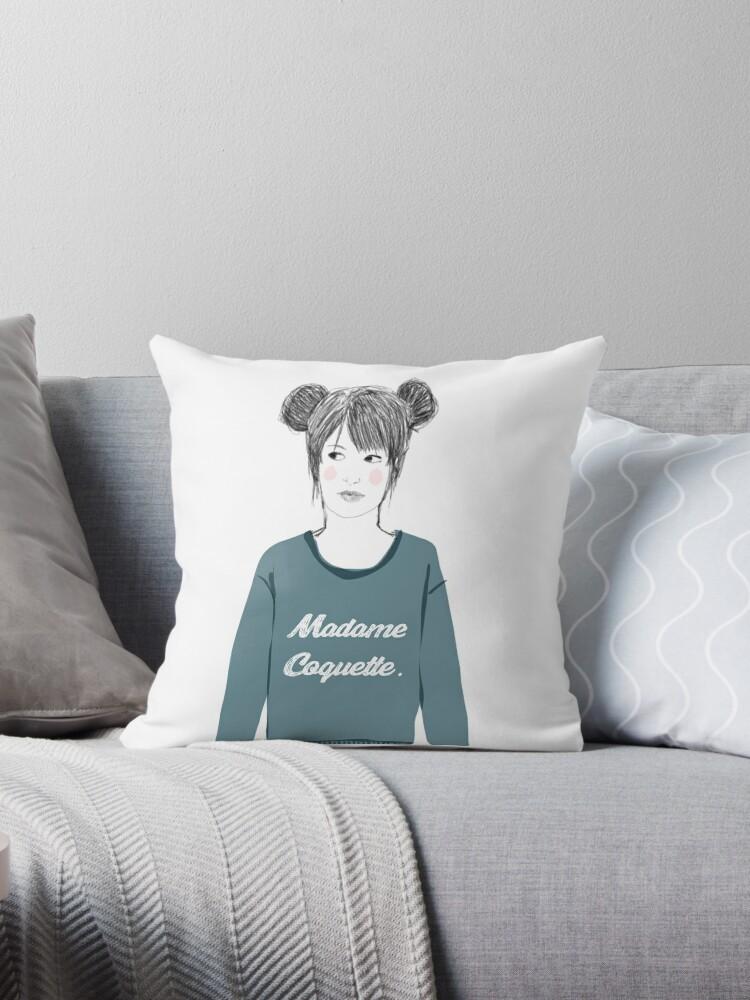 Madame coquette throw pillows by blablablaillu redbubble - Madame coquette ...
