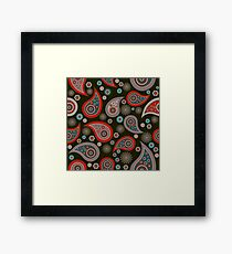 Red Black Background Framed Print