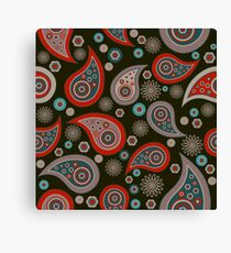 Red Black Background Canvas Print