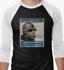 He Fights For Your Freedom! - NCR Men's Baseball ¾ T-Shirt