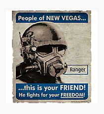 He Fights For Your Freedom! - NCR Photographic Print