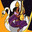 Saraswati - Goddess of Wisdom (Alt) by artkarthik