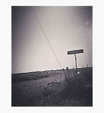 Mayfield Road Black and White Photographic Print