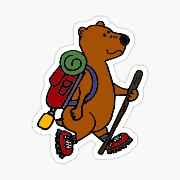Shot glass bear fuck this shit im going hiking unisex heavy