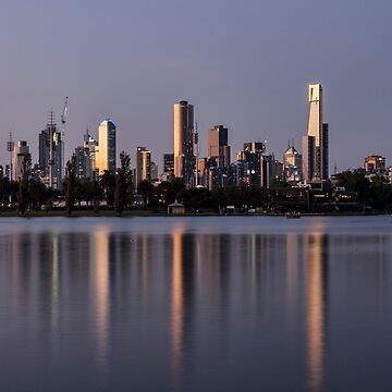Cityscape Reflecting off the Lake by ea-photos