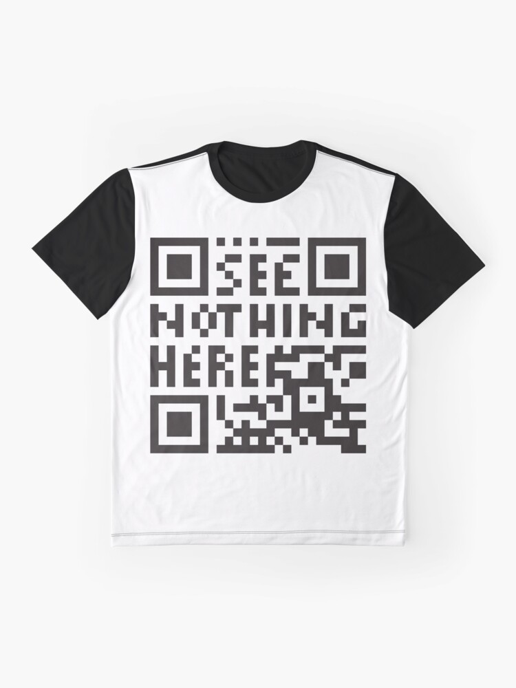 Alternate view of  confuse surveilling scanner - undecodable qr code  Graphic T-Shirt