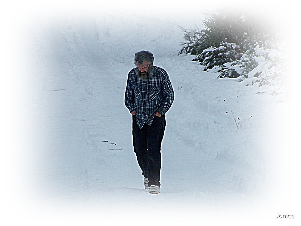In thought Outside In The Snow Christmas Day by Jonice
