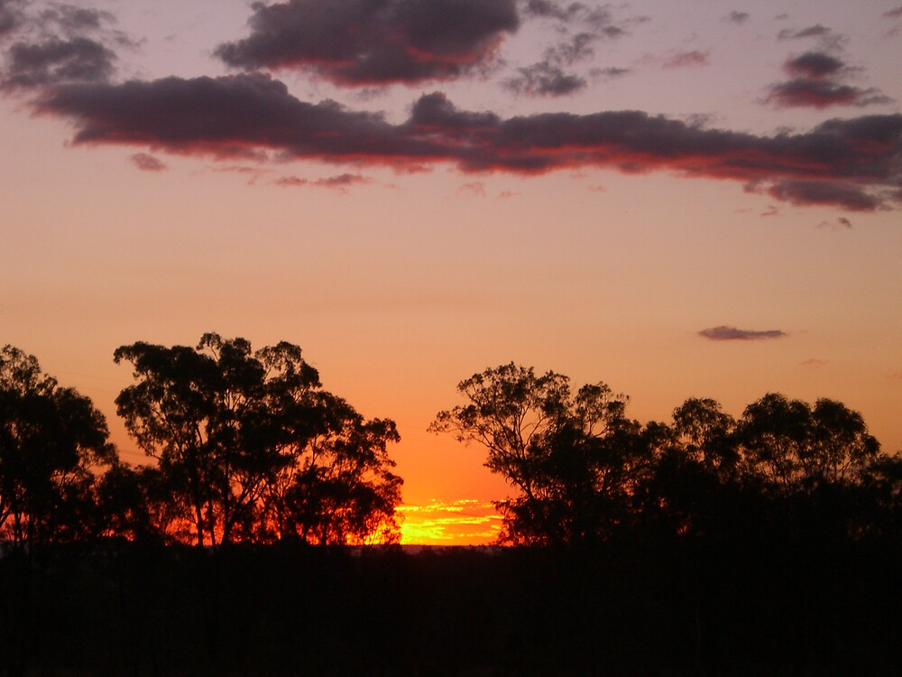 outback sunset by mattnickoll
