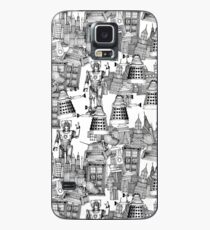 walking doodle toile de jouy black Case/Skin for Samsung Galaxy