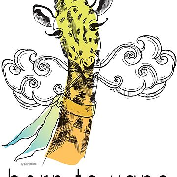 Vaping | Born to Vape - Vaping Giraffe Watercolor by IconicTee