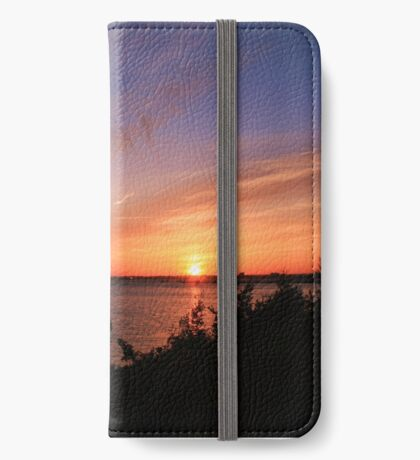 Sunset Over The Harbour iPhone Wallet