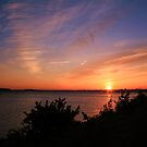 Sunset Over The Harbour by RedHillDigital
