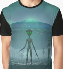 Alien Visitors Graphic T-Shirt