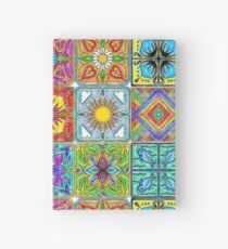colorful spanish tile Hardcover Journal