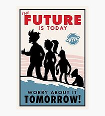 The Future is Today Propaganda Poster Photographic Print