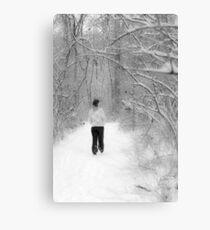 Snowy Walk in the Snowy Woods Canvas Print