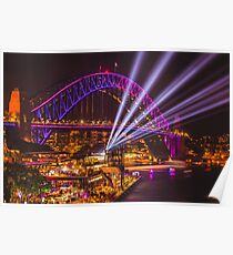 Sydney Harbour Bridge Vivid Poster