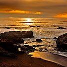 Sunset near Cambria, California by Buckwhite