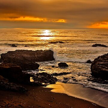 Sunset near Cambria, California by Buckwhite