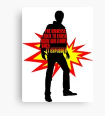 Rory Williams Exploded the Universe Canvas Print