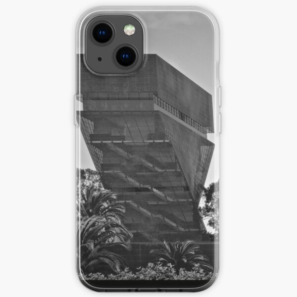 De Young Museum in Black and White iPhone Soft Case