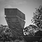 De Young Museum in Black and White by Lynda Anne Williams