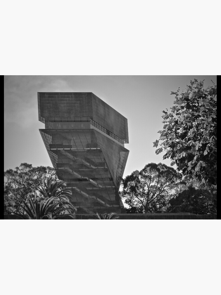 De Young Museum in Black and White by LyndaAnneArt
