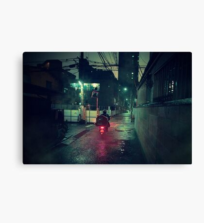 Neo Tokyo - Midnight Delivery Canvas Print