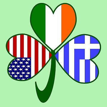 Greek Irish USA Shamrock by AuntieShoe