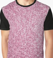 1ac5db026feb6 Glitter Pink Gold Rose Soft Texture Graphic T-Shirt